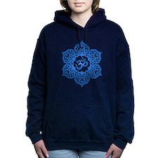 Blue Lotus Flower Yoga Om Women's Hooded Sweatshir