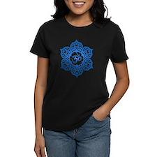 Blue Lotus Flower Yoga Om T-Shirt