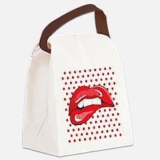 Pop Art Lips Canvas Lunch Bag