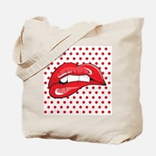 Pop Art Lips Tote Bag