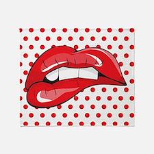 Pop Art Lips Throw Blanket