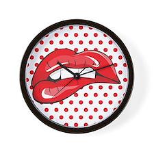 Pop Art Lips Wall Clock
