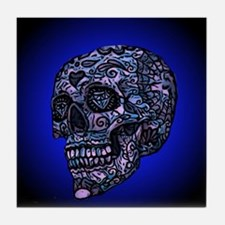 Blue Skull Tile Coaster