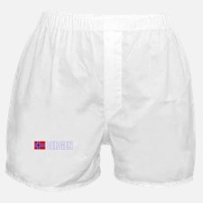 Bergen, Norway Flag II (Dark) Boxer Shorts