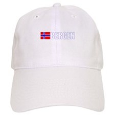 Bergen, Norway Flag II (Dark) Baseball Cap