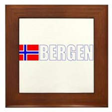 Bergen, Norway Flag II (Dark) Framed Tile