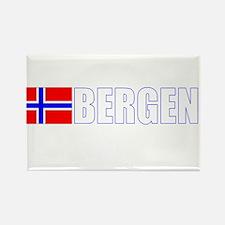 Bergen, Norway Flag II (Dark) Rectangle Magnet