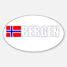 Bergen, Norway Flag II (Dark) Oval Decal
