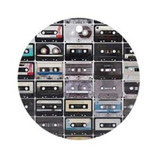 Cassette Tapes Ornament (Round)