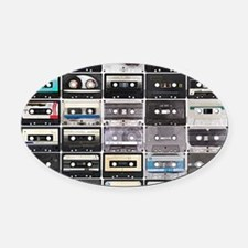 Cassette Tapes Oval Car Magnet