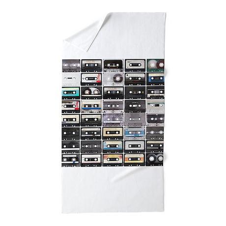 Cassette Tapes Beach Towel