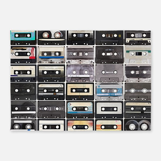 Cassette Tapes 5'x7'Area Rug