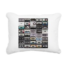 Cassette Tapes Rectangular Canvas Pillow
