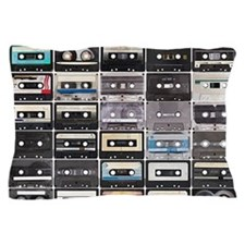 Cassette Tapes Pillow Case