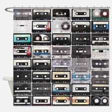 Cassette Tapes Shower Curtain