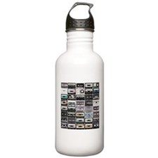 Cassette Tapes Water Bottle