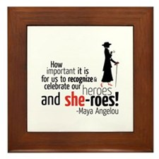 Maya Angelou Framed Tile