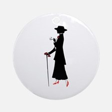 Red Shoes Ornament (Round)