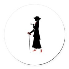 Red Shoes Round Car Magnet