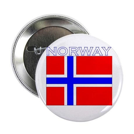 """Norway Flag (Dark) 2.25"""" Button (10 pack)"""