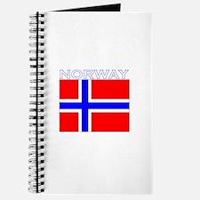 Norway Flag (Dark) Journal