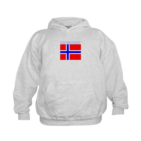 Norway Flag (Dark) Kids Hoodie