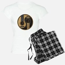 Old and Worn Acoustic Guitars Yin Yang pajamas