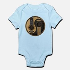 Old and Worn Acoustic Guitars Yin Yang Body Suit