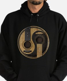 Old and Worn Acoustic Guitars Yin Yang Hoody