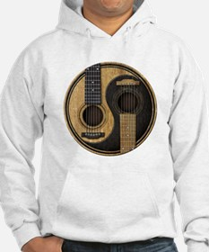 Old and Worn Acoustic Guitars Yin Yang Hoodie Swea