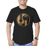 Yin yang guitar Fitted T-shirts (Dark)