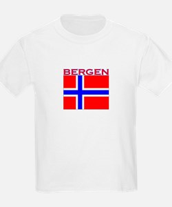 Bergen, Norway Flag T-Shirt