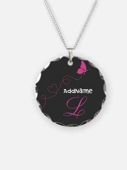 Custom Monogram Butterfly Necklace