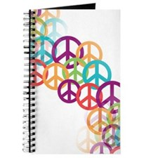 Abstract Peace Signs Journal