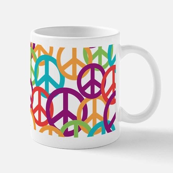 Colorful Peace Symbols Mug