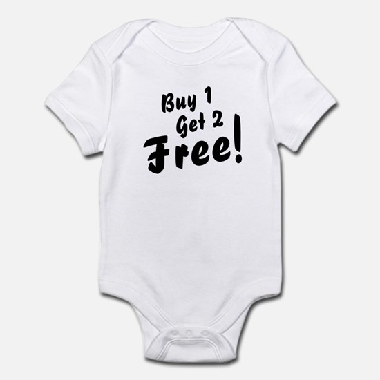 Triplets baby clothes cafepress triplets b1g2 free funny baby bodysuit negle Images