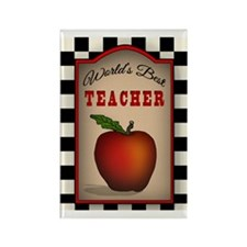 Country Rustic Worlds Best Teache Rectangle Magnet