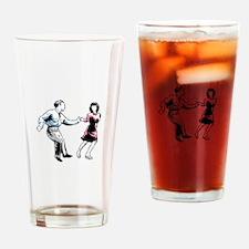 Shag Dancers Drinking Glass