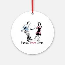 Peace. Love. Shag. Ornament (Round)