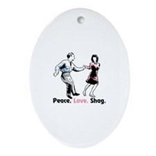 Peace. Love. Shag. Ornament (Oval)
