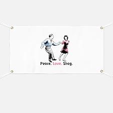 Peace. Love. Shag. Banner