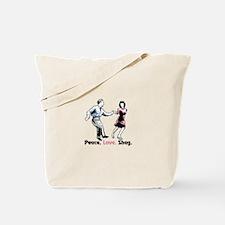 Peace. Love. Shag. Tote Bag
