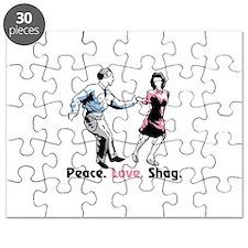 Peace. Love. Shag. Puzzle