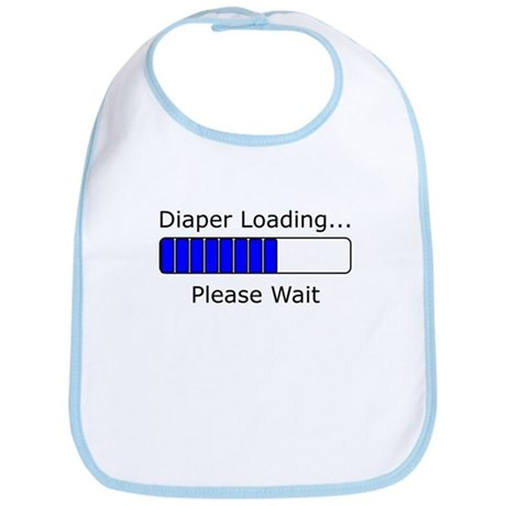 Diaper Loading Please Wait Bib