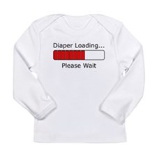 Diaper Loading Please Wait Long Sleeve T-Shirt