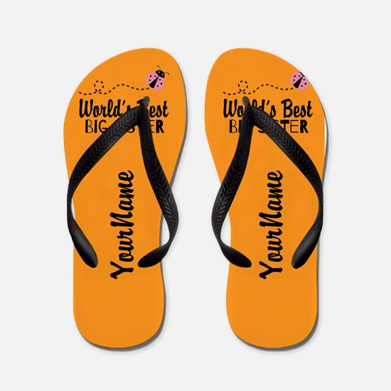 Worlds Best Big Sister Flip Flops