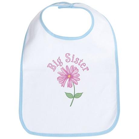 Pink Daisy Big Sister Bib