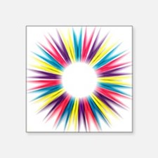 """Abstract Rainbow Pegs Square Sticker 3"""" x 3"""""""
