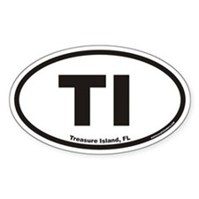 Treasure Island Florida TI Euro Oval Decal