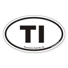 Treasure Island Florida TI Euro Oval Decal